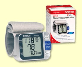 Omron Hem 609 Portable Wrist Blood Pressure Monitor With